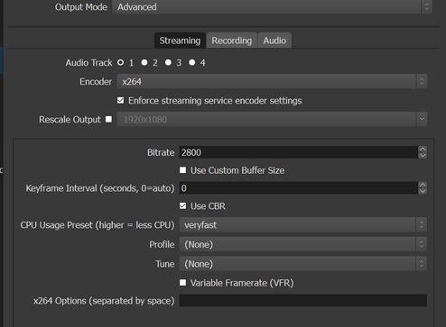 Best OBS Streaming Setting for Twitch 720P/1080P/60FPS